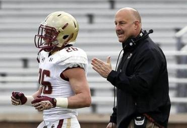 BC coach Steve Addazio has some pointed words for David Dudeck.